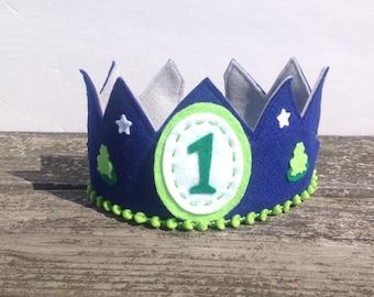 Boy's Felt Birthday Crown, Boy Birthday, Felt Birthday Crown, Birthday Crown