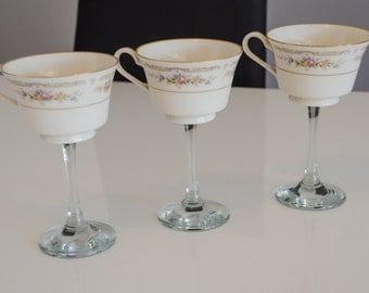 Funky Wine Glass Tea Cups Design #2