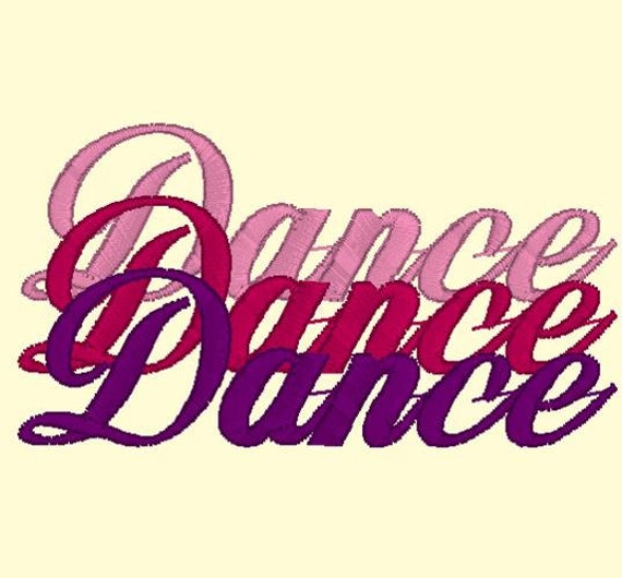 3D Dance Design 4x4 and 5x7