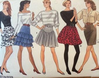 Ruffled Skirt Pattern Butterick 5907
