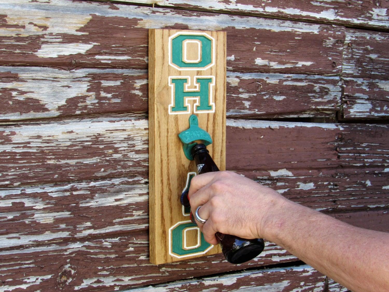 Bottle Opener Magnet Cap Catcher Wall Mount Ohio