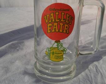 Valley Fair Green Giant collectible glass tankard