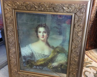 Antique frame and vintage print