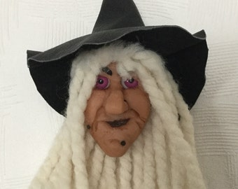 Wall hanging kitchen witch