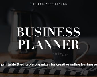 Business Planner - Creative Online Business Organizer - Editable & Printable - Instant Download