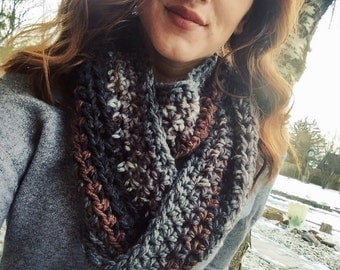 Earthy tones infinity scarf FREE SHIPPING
