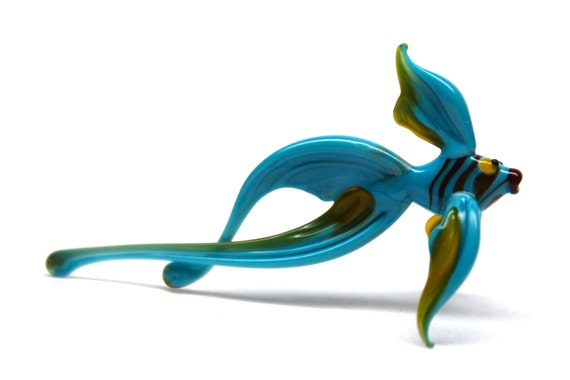 Glass fish hand blown collectible figurine glass fish for Blown glass fish