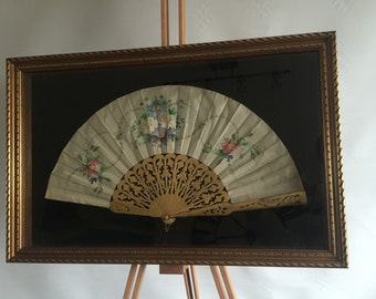 An Absolutely Stunning Victorian Framed Hand Painted Fan