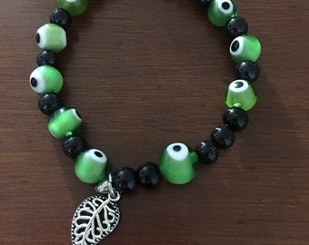 Green lucky eyes Bracelet