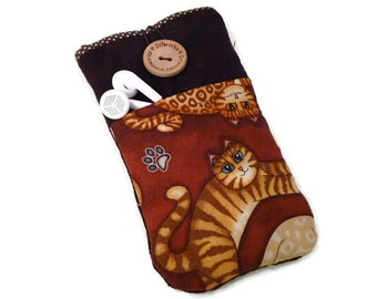 iPhone 6 case Cats Fabric, iPhone 5 cover, iPhone SE pouch, iPhone 4 Sleeve, iPhone 5s cover, iPhone 6 plus case cats fabric