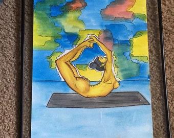 Body dynamics 9x12 watercolor