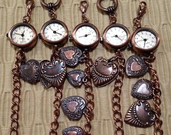 New Mini Copper Charm Bracelet Watch