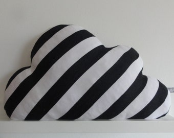 Cloud pillow stripes black and white