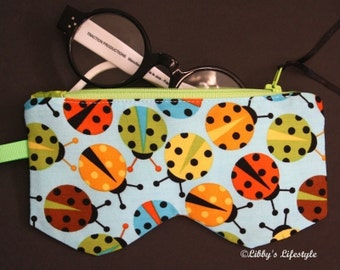 Lady beetles Glasses case. Handmade.