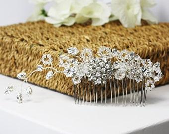 Bridal hair comb, wedding hair comb, sparkly headpiece, bridal hair accessory, crystal bridal comb, decorative comb, hair adornment, sparkle