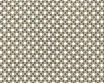 Dim Dots Dirt Brown  (White & Tone on Tone Dots on Dirt Brown Background) by Michael Miller - CX6322-DIRT-D