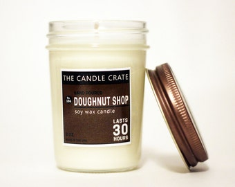 Doughnut Shop Scented Soy Wax Candle