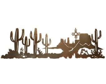 """Desert Scene Steel Wall Art 57""""x 18"""""""