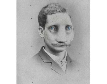 Man Bizarre Freak Face Creepy Vintage Costume Photo Victorian Vintage Altered Art Halloween Instant Download Ephemera Scrapbook