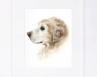 Custom Original Watercolor Dog Portrait x3