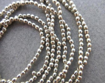Silver Spacer Beads - 2 Strands (2x2mm) [64524]
