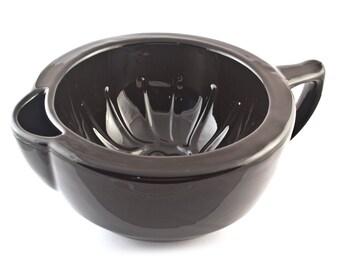 Extra Large Black Ceramic Shaving Mug Bowl Scuttle Handmade