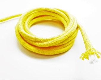1 meter braided baker's cord, daffodil, 6 mm