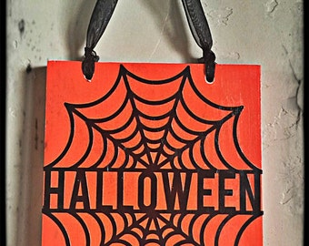 Custom Handmade Halloween Wood Sign!