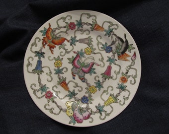 Floral/ print decorative hand painted 7 inch plate made in China