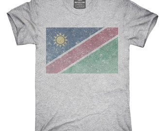 Retro Vintage Namibia Flag T-Shirt, Hoodie, Tank Top, Gifts
