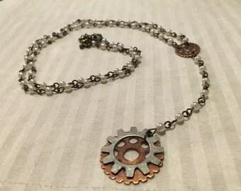 Rosary style hardwear necklace!