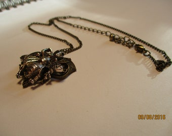 Steampunk Insprired Bee Necklace