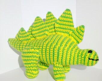 Stegosaurus Doll, Dinosaur Lovey, Jurassic Toy, Yellow Dinosaur, Green Dinosaur, Stegosaurus Toy, Prehistoric Doll, Dino Stuffed Animal