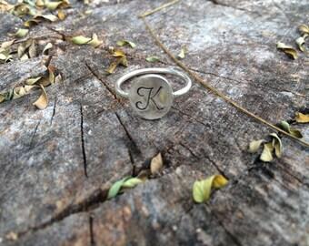 Monogrammed Letter Ring
