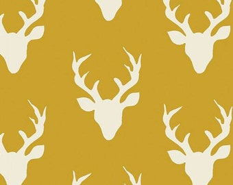Crib Sheet or Changing Pad Cover | Gender Neutral Bedding | Yellow | Deer Nursery | Buck Forest | Woodland Crib Sheet | Standard or Mini