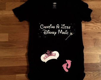 Disney Maternity shirt, Princess Minnie Mouse Inspired Creating a Little Disney Magic Maternity Shirt