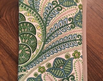 Handmade Kindle, Tablet Case/Cover, Green and Tan