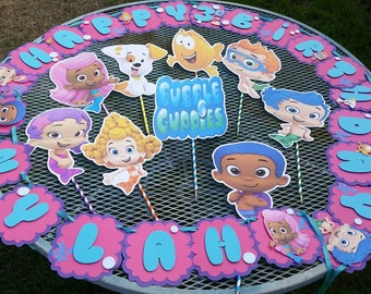 Bubble guppies centerpiece