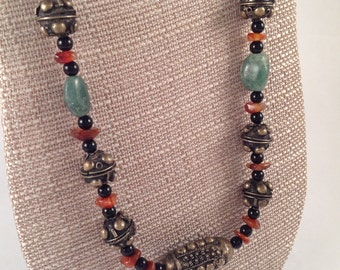 tibetan rustic beaded necklace.