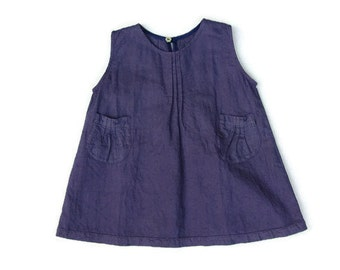 Linen Summer Dress. Baby Girl Dress. Toddler Dress. Ages: 1-5 years old.