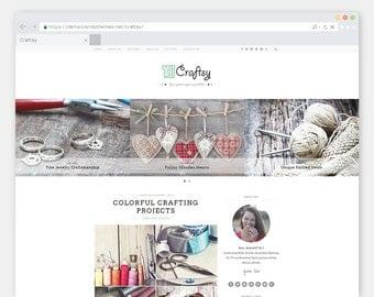"Crafting WordPress Theme Blog ""Craftsy"" 