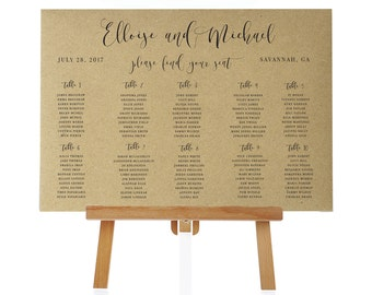 Printable Seating Chart- Wedding Seating-Reception Seating-Wedding Templates- Party seating