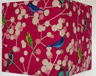 Love Birds Pink, 20cm Square Lampshade