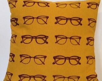 Glasses Mustard Cushion