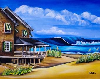 "Buchanan Cottage No 6 -  8x10"" Art Print (Original Oil Painting by Artist Barbara Noel)"