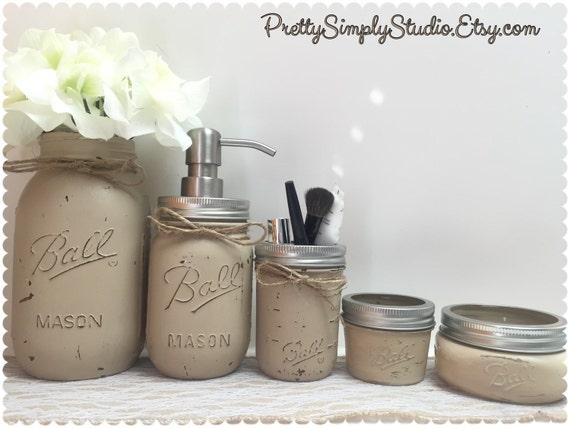 Mason Jar Bathroom SetBall Mason JarsHome DecorRustic