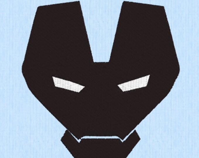 Iron Man Mask Embroidery Design