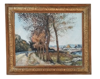 French Impressionism Oil Painting French Original Oil Painting Provence French Provence Mid Century South of France French Country Painting