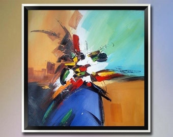 Original modern oil painting on canvas-Hand painted Abstract Palette knife paintings