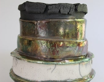 Raku Pot by Shelia